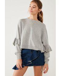 Kimchi Blue - Ruffle Dolman Sleeve Sweater - Lyst