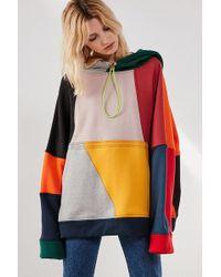 BDG - Color Block Drawstring Hoodie - Lyst