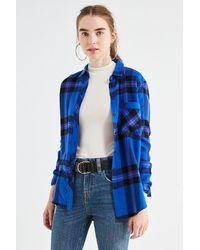 BDG | Molly Flannel Button-down Shirt | Lyst