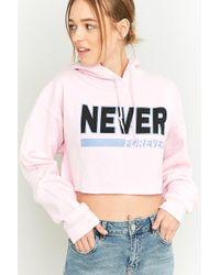 BDG - Never Forever Cropped Hoodie Sweatshirt - Lyst