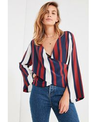 Sir. The Label - Oliver Striped Wrap Top - Lyst