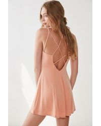 Silence + Noise - Strappy Low-back Mini Dress - Lyst