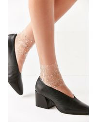 Out From Under - Lace Jewel Sock - Lyst