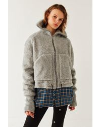 House Of Sunny - Teddy Zip-up Jacket - Lyst