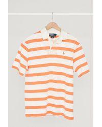 Urban Renewal - Vintage Polo Ralph Lauren Pastel Orange Stripe Polo Shirt - Lyst