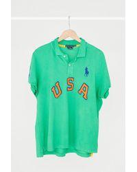 Urban Renewal | Vintage Polo Ralph Lauren Green Usa Polo Shirt | Lyst