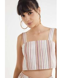 Urban Renewal - Remnants Natural Striped Tank Top - Lyst