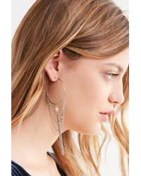 Urban Outfitters - Stardust Charm Hoop Earring - Lyst