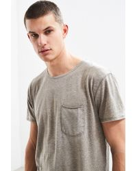 Urban Outfitters - Uo Burnout Long Loose Scoopneck Tee - Lyst