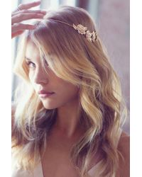Urban Outfitters | Golden Flower Halo Headband | Lyst