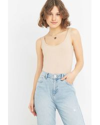 Urban Outfitters - High Leg Ribbed Bodysuit - Lyst
