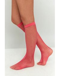 Urban Outfitters - Calf-length Small Fishnet Socks - Lyst