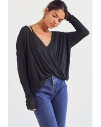 Silence + Noise - Piper Surplice Top - Lyst