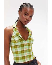 80d3c8bb3a9 Urban Outfitters - Uo Gianna Linen Button-down Halter Top - Lyst