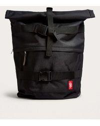 Obey - Revolt Black Rolltop Backpack - Mens All - Lyst