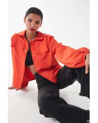 House Of Sunny - Orange Utility Workwear Jacket - Lyst