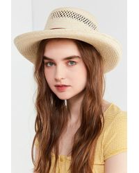 Urban Outfitters - Telescope Straw Boater Hat - Lyst