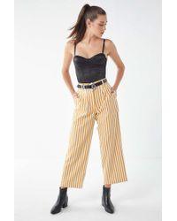 Urban Renewal - Remnants Yellow Striped Trouser Pant - Lyst
