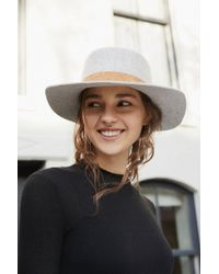 Urban Outfitters - Felt Boater Hat - Lyst