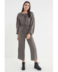 91ca8bbde615 Lyst - Lucca Couture Mckenna Self-tie Jumpsuit in Blue