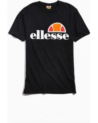 Ellesse - T-shirt With Classic Logo In Black - Lyst