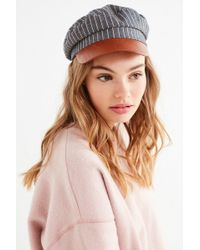 Urban Outfitters - Striped Chambray Fisherman Hat - Lyst