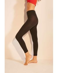 Out From Under - Fleece-lined Footless Tights - Womens S/m - Lyst