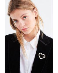 Urban Outfitters - Rhinestone Heart Brooch - Lyst