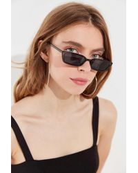 Urban Outfitters - Gigi Slim Rectangle Sunglasses - Lyst