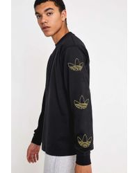 6c26b637 adidas - Repeat Trefoil Logo Black Long-sleeve T-shirt - Lyst