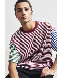Urban Outfitters - Uo Stripe Tri Block Tee - Lyst
