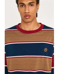 Urban Outfitters - Uo Multi-stripe Blocked Smile Face T-shirt - Lyst