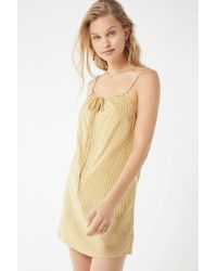 Urban Outfitters - Uo Tie-front Gingham Dress - Lyst