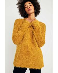 Sparkle & Fade - Teddy Mock Neck Yellow Jumper - Lyst