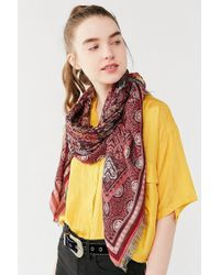 Urban Outfitters - Jacquard Square Scarf - Lyst