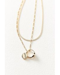 Urban Outfitters - Layered Ring Charm Necklace - Lyst