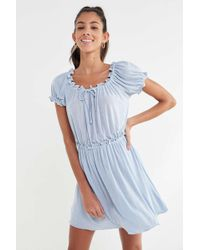 Anna Sui - Uo Exclusive Ruffle Babydoll Dress - Lyst