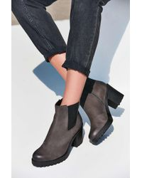4c8a74eeaa Lyst - Vagabond Nubuck Grace Double Zip Ankle Boot in Black