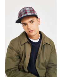 1d52074db86 Hot Lacoste - Checked Red And Navy Cap - Lyst