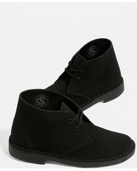 Clarks - Black Leather Desert Boots - Womens Uk 3 - Lyst