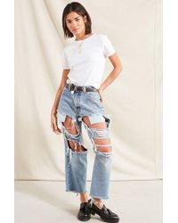 Urban Outfitters - Recycled Blown Out Destroyed Levi's Jean - Lyst