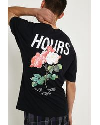 Urban Outfitters - Uo Floral Hours T-shirt - Lyst