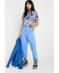 Urban Renewal - Remade Stan Ray Blue Crop Trousers - Lyst