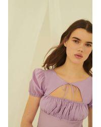 Urban Outfitters - Uo Winnie Tie-front Cutout Mini Dress - Lyst