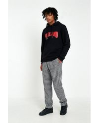 Soulland - Pino Black And White Check Trousers - Lyst