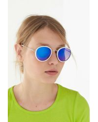 fe253d3b1f Urban Outfitters - Riley Round Aviator Sunglasses - Lyst
