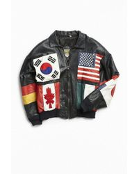 Urban Outfitters - Vintage International Leather Bomber Jacket - Lyst
