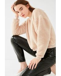 Urban Outfitters | Uo Fuzzy Crew-neck Sweatshirt | Lyst