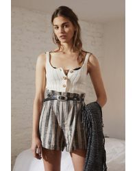 Urban Outfitters - Uo High-rise Striped Paperbag Short - Lyst