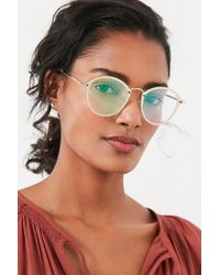 Urban Outfitters - Rimless Overlay Round Sunglasses - Lyst